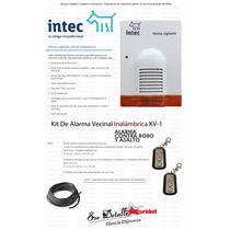 Kv 1 Intec - Kit De Alarma Vecinal Inalámbrica