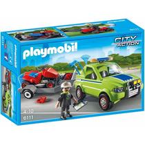 Playmobil 6111 Jardineiro Com Veículo E Moto.