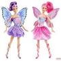 Barbie Mariposa E Fada Princesa Fadinhas Roxa E Rosa Mattel