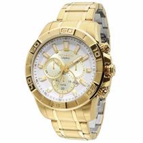 Relógio Technos Dourado Grande Legacy Cronógrafo Js25an/4b