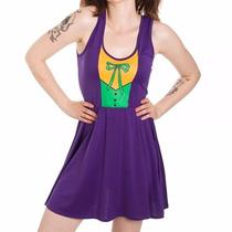 Disfraz Ladies Batman Joker A Line Scoop Neck Vest Dress