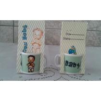 Kit 50mini Canecas De Porcelana Para Chá De Bebê