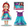 Princesa Ariel Disney Toddler Com Vestido Para 2-4 Anos