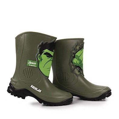 b7b1bb341a5 Bota Galocha Infantil Masculina Avengers Hulk Grendene Kids - R  69 ...