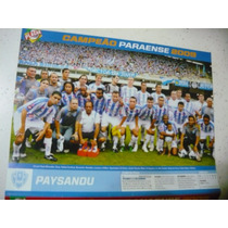 Miniposter Paysandu Campeão Paraense 2009 Placar Fret Gratis