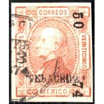 0050 Clásico Perfil S#95 Veracruz #50 74 25c Usado 1874