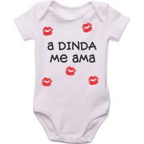 Body Bebê Personalizado Dinda Me Ama