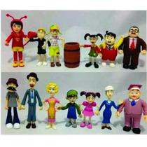Coleção Completa Miniaturas Bonecos Turma Do Chaves Chapolin