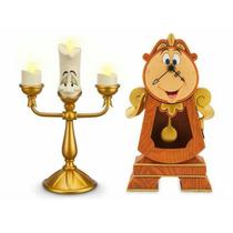 Bela E A Fera Lumière E Relógio Orloge Original Disney