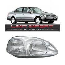 Farol Honda Civic Direito Ano 1996 1997 1998