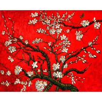 Lienzo-tela, Van Gogh, Árbol De Almendras Rojo. 72 X 90 Cm.