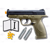 Marcadora Co2 Airsoft S&w M&p 40 Bbs .177 Postas Xtreme