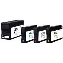 Kit 4 Cartuchos Hp 950xl 951xl Tinta Hp 8100 8600 Generico