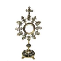 Ostensório Hóstia Bronze Igreja Religião Padre Bispo Sagrado