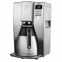 Cafetera Termica 10 Tazas Programable Acero Inox Oster