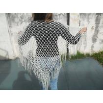 Chal Chalina Tejido Al Crochet Lana Cashmilon Nuevo Modelo