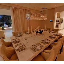Mesa Jantar Laca Branca 2,70m X 1,30m, Cabem Até 12 Lugares