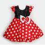 Vestido Fantasia Infantil Bebe Festa Lindo Minnie Miney