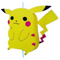 Piñata Pikachu Pokemon, Artesanal En Goma Eva