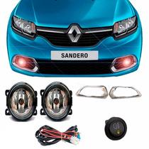Kit Farol Milha Sandero 2014 / 2015 Neblina Renault Completo