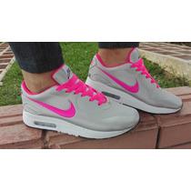 Nike Airmax Plata Fucsia