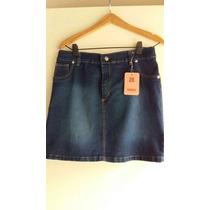 Polleras Elastizadas Jean Azul Oscur Localizado T 56 $ 560