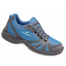 Tenis Sapato De Segurança Htw Fujiwara Azul Com Ca36091