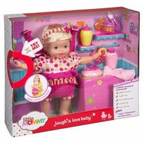 Muñeca Interactive Little Mommy Risa. Original Fisher Price