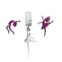 Berloque Bailarina Dançarina Prata 925 Garantia Nota
