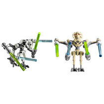 Set Figuras General Grievous Star Wars Compatible Con Lego