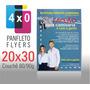 Panfleto Flyers 20x30 Cm - Cor 4x0 - 2.500 Unds - 90g