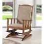 Cadeira Poltrona Balanço Estofada Madeira Opções Acabamento