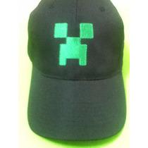 Oferta! Gorra Minecraft Creeper Negra - Bordado Verde Unica