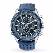 Lindo Relógio Citizen Eco-drive Blue Angels - At8020-03l