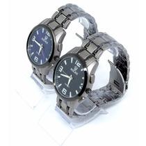 Relógio De Luxo Azul Ou Preto Envio Em 24hs Barato Unisex