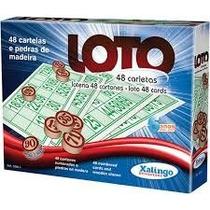 Jogos De Bingo Loto 48 Cartelas C/pedra Madeira - Xalingo