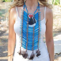 Collar Pechera De Indigena Apache Indio Para Adultos