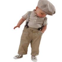 Conjunto Tirantes Pantalon Camisa Para Bebe Talla 6-18 Meses