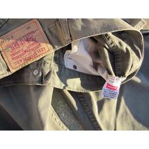 Jeans Original Levis 505 W34 L34 Verde O Caqui Usado