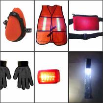 Kit Reflejante Motociclista 6pack, Chaleco Reflejante Led