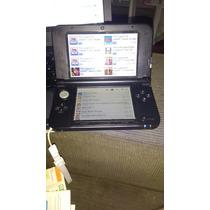 3ds Xl Azul Impecável - Desbloqueio Com Pokemon Sun E Moon