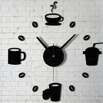 Reloj De Pared Adhesivo. Ideal Para Paredes Y Espejos