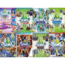 Pacote Com 8 Expansões Originais E Lacradas The Sims 3