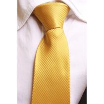 Gravata Semi Slim Trabalhada Listrada - Dourado Ouro