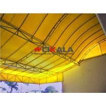 Lona Amarela Forte Toldo Cobertura Fachada 600 Micra 12x1,75
