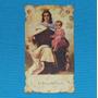 Antigua Estampa Novena Virgen Del Carmen Comatrana Ica 1952