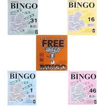 1.500 Cartelas Coloridas (8cm X 10cm) P/ Bingos De 75 Bolas