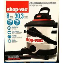 Aspiradora Shop Vac 2.0 Hp 8 Galones Acero Inoxidable