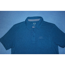 Playera Tipo Polo Armani Exchange A/x Azul