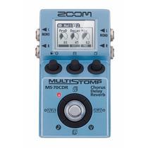 Zoom Ms-70cdr Multistomp Pedaleira Para Guitarra E Baixo ..
